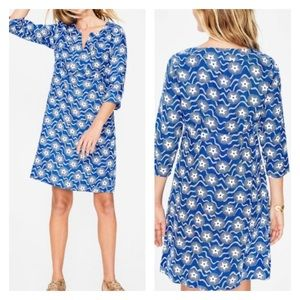 Boden Casual Linen Tunic - Cobalt, Starry Wave